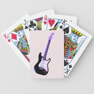 Guitarra baja, naipes del póker de la música