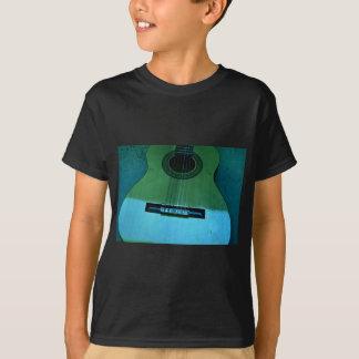 Guitarra de la aguamarina camiseta