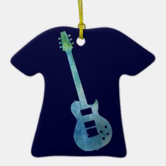 Guitarra eléctrica azul fresca ornamentos de reyes