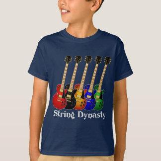 Guitarra eléctrica de la dinastía de la secuencia camiseta