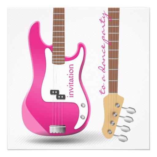 Guitarra eléctrica de las rosas fuertes del baile  comunicados