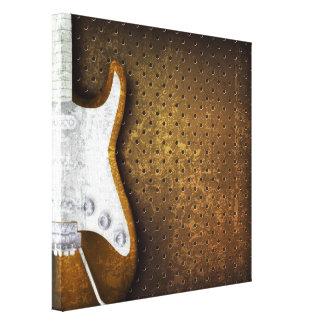 Guitarra eléctrica del Grunge de metales pesados Impresión En Lienzo