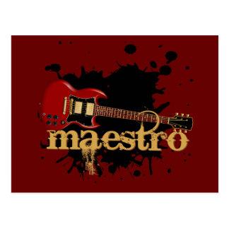 Guitarra eléctrica del Grunge del maestro Postales