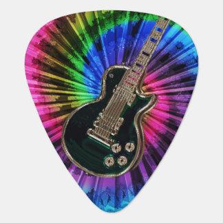 Guitarra eléctrica en púa de guitarra del teñido púa de guitarra