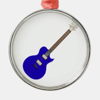guitarra eléctrica graphic.png azul adorno redondo plateado
