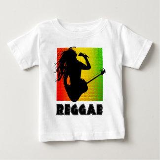 Guitarra fresca de la música de Rasta del reggae Camiseta De Bebé