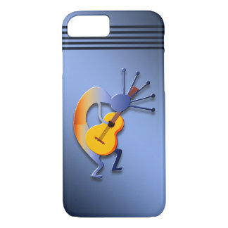 Guitarra Kokopelli en azul Funda iPhone 7