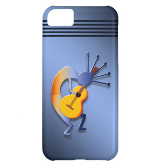 Guitarra Kokopelli en azul Funda Para iPhone 5C