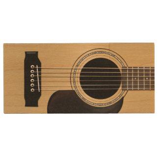 Guitarra Memoria USB De Madera
