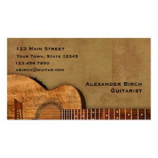 Guitarra rústica tarjeta de negocio