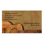 Guitarra rústica tarjetas de visita