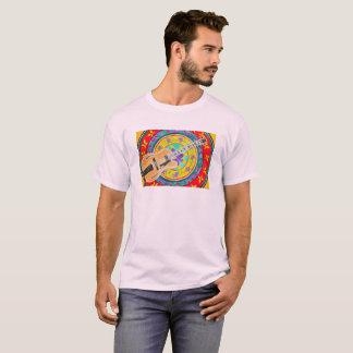 Guitarra y acuarela latina de la mandala camiseta