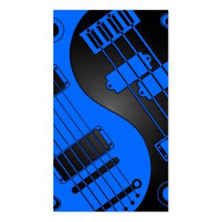 Guitarra y Yin bajo Yang azul y negro Plantillas De Tarjetas De Visita
