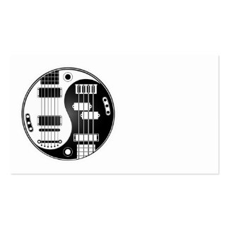 Guitarra y Yin bajo Yang blanco y negro Plantilla De Tarjeta Personal