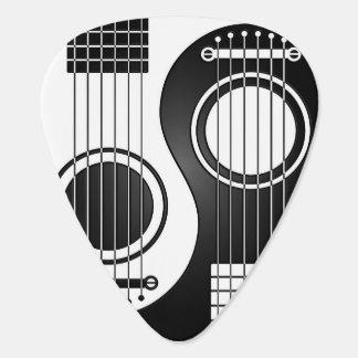 Guitarras acústicas blancas y negras Yin Yang Plectro