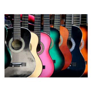 Guitarras acústicas tarjetas postales
