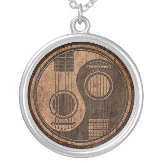 Guitarras acústicas Yin Yang con el efecto de made Collar Plateado