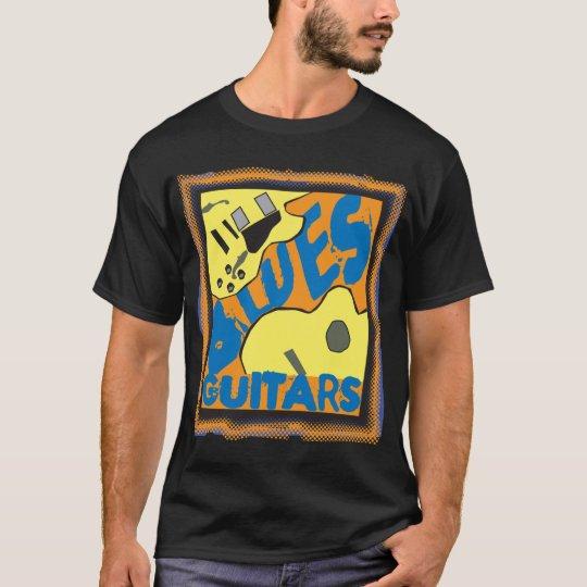 Guitarras de los azules en color camiseta
