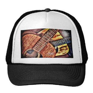 Guitarras del alto contraste gorro de camionero