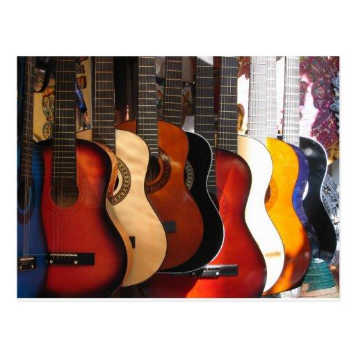 Guitarras Tarjeta Postal