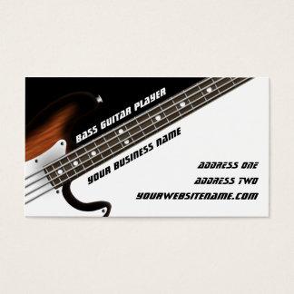 Guitarrista bajo tarjeta de negocios
