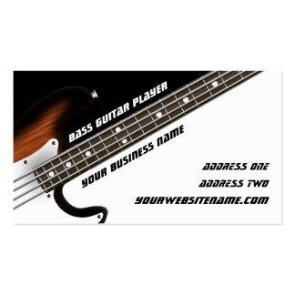 Guitarrista bajo tarjetas de visita