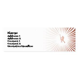 Guitarrista de la paz - flaco tarjetas de visita mini