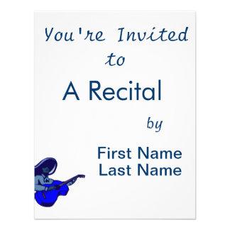 guitarrista mexicano blue png azul invitacion personalizada