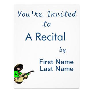 guitarrista mexicano green png invitacion personalizada