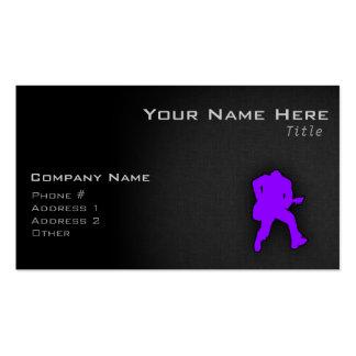 Guitarrista púrpura violeta plantilla de tarjeta de negocio