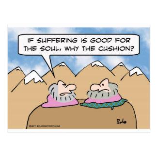 Guru cree en el sufrimiento pero se sienta en postal