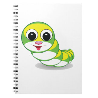 gusano brillante de la oruga cuaderno