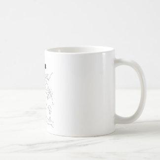 gusano cirílico serbio taza de café