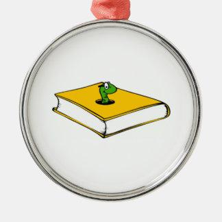 Gusano de libro amarillo ornamentos de reyes