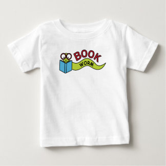 Gusano de libro camiseta de bebé