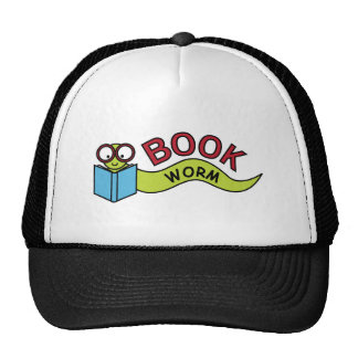 Gusano de libro gorras