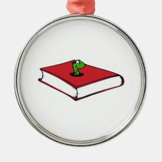 Gusano de libro rojo ornamentos de reyes magos