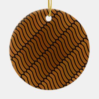 Gusanos del caramelo de Brown Ornamento De Navidad