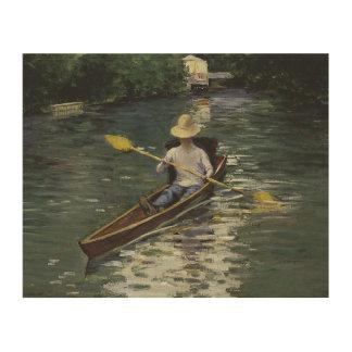 Gustave Caillebotte - canoa en el Yerres Impresión En Madera