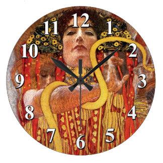 Gustavo Klimt - diosa de la medicina de Hygieia de Reloj Redondo Grande