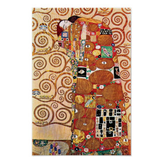 Gustavo Klimt - el abrazo - pintura de la bella Póster