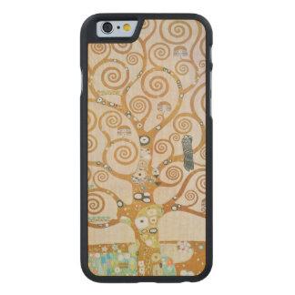 Gustavo Klimt el árbol del arte Nouveau de la vida Funda De iPhone 6 Carved® Slim De Arce