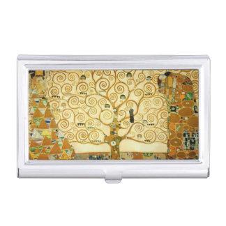 Gustavo Klimt el árbol del arte Nouveau del Cajas De Tarjetas De Presentación