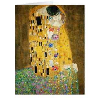 Gustavo Klimt el arte Nouveau del beso Tarjeta