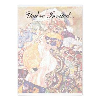 Gustavo Klimt - el bebé Invitación 12,7 X 17,8 Cm