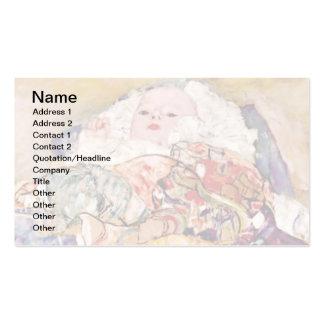 Gustavo Klimt - el bebé Tarjetas De Visita