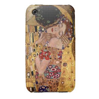 Gustavo Klimt: El beso (detalle) Funda Bareyly There Para iPhone 3 De Case-Mate