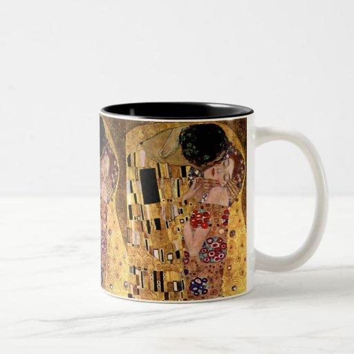 Gustavo Klimt: El beso (detalle) Tazas De Café