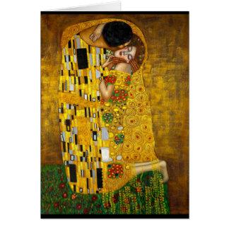 Gustavo Klimt - el beso Tarjeta