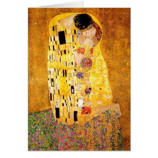 "Gustavo Klimt ""el beso "" Tarjeta"